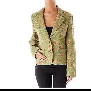 CAbi jacket blazer #165 sz 2 Brocade green Tapestr